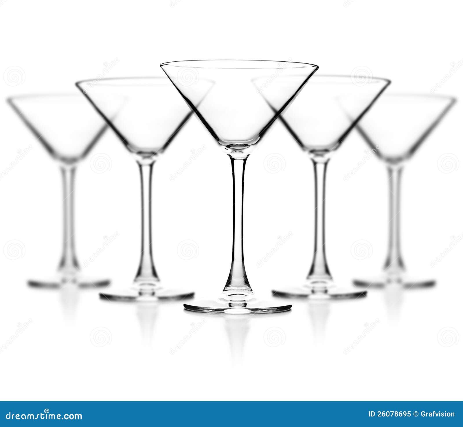 Tomt exponeringsglas av coctailen
