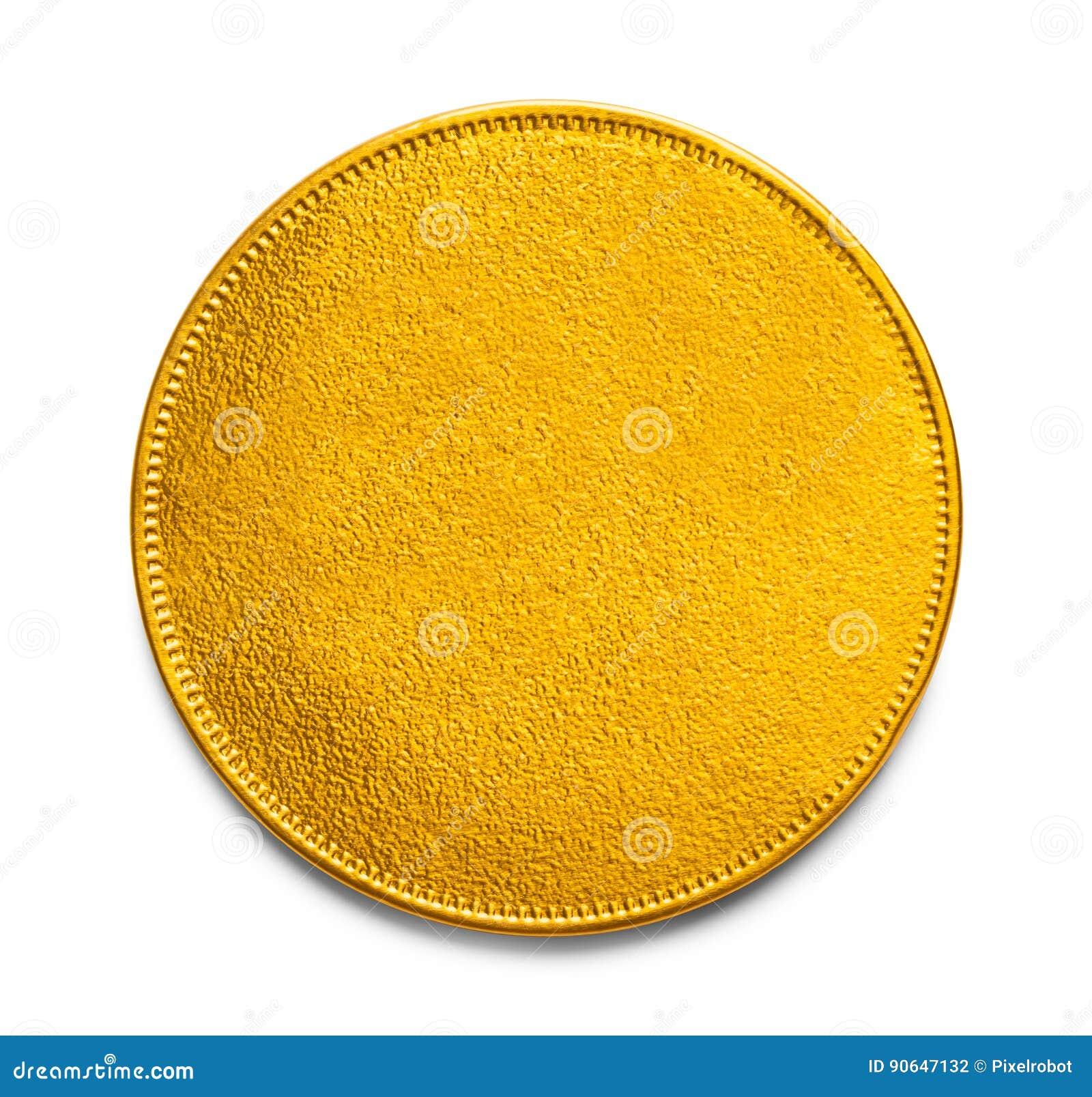 Tomt guld- mynt