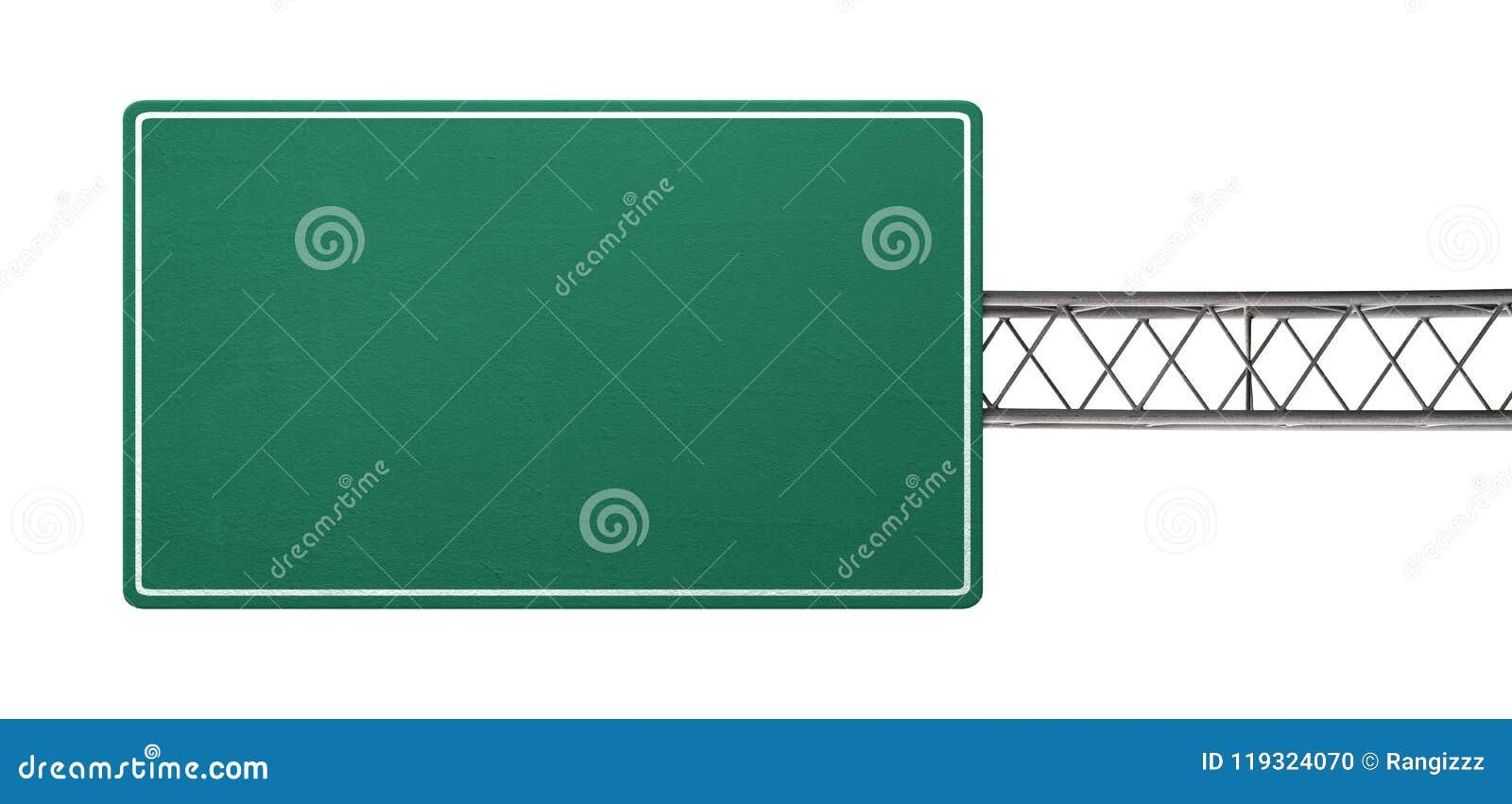 Tomt huvudvägtecken