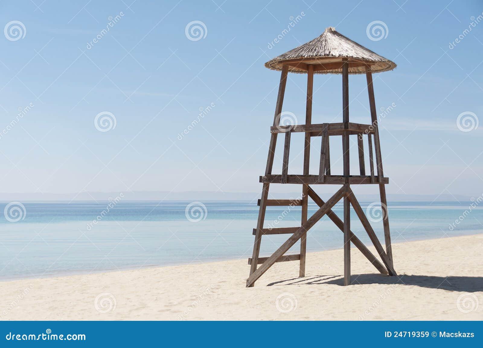 Tomt livräddaretorn för strand