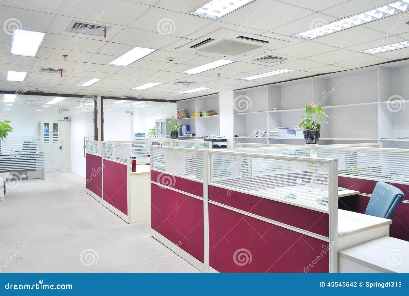 Tomt modernt kontor