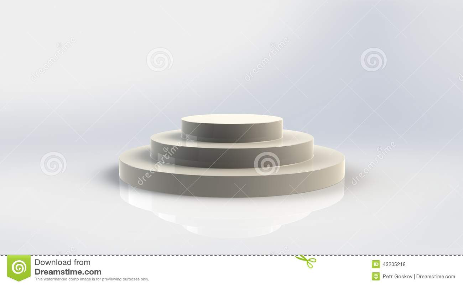 Download Tomt podium stock illustrationer. Illustration av ställe - 43205218