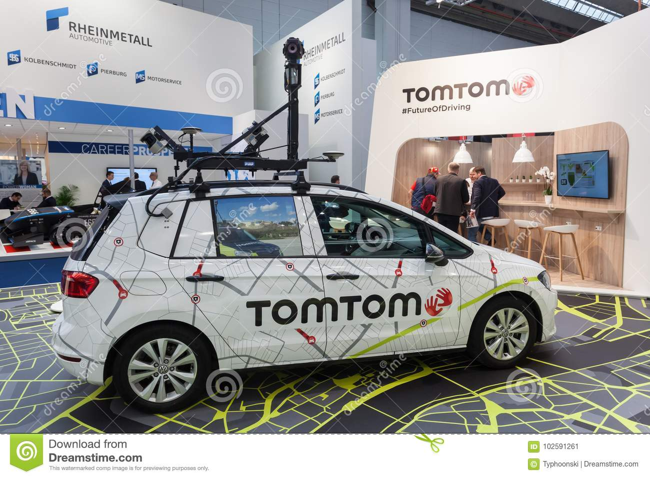TomTom Camera Car At The IAA 2017 Editorial Photo - Image of