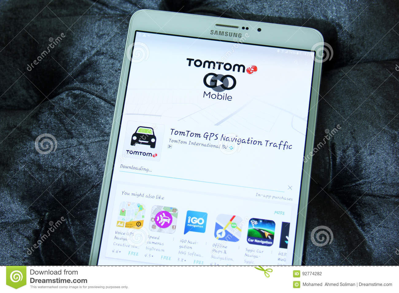 TomTom GO GPS Navigation Traffic App Editorial Photography