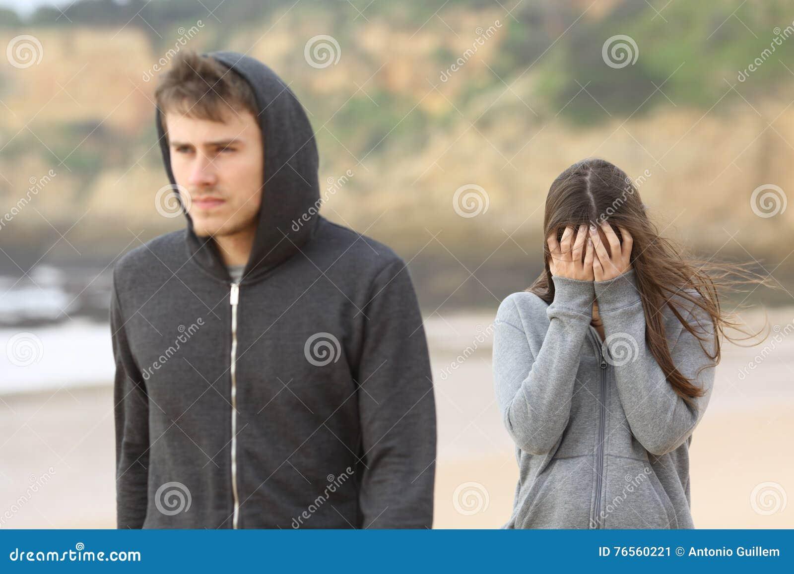 Tonåringpar som bryter upp