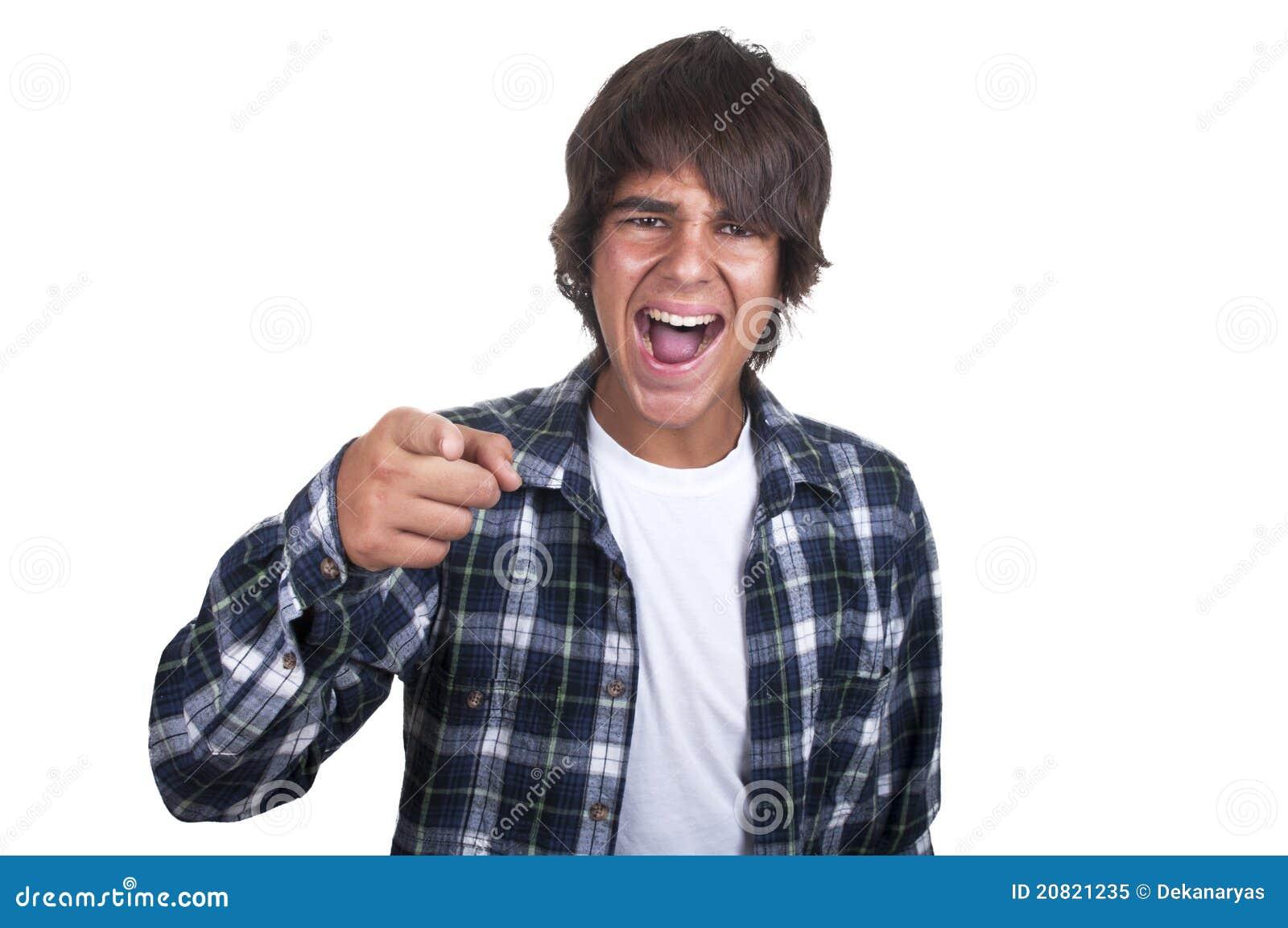 Tonårs- pojkegråt