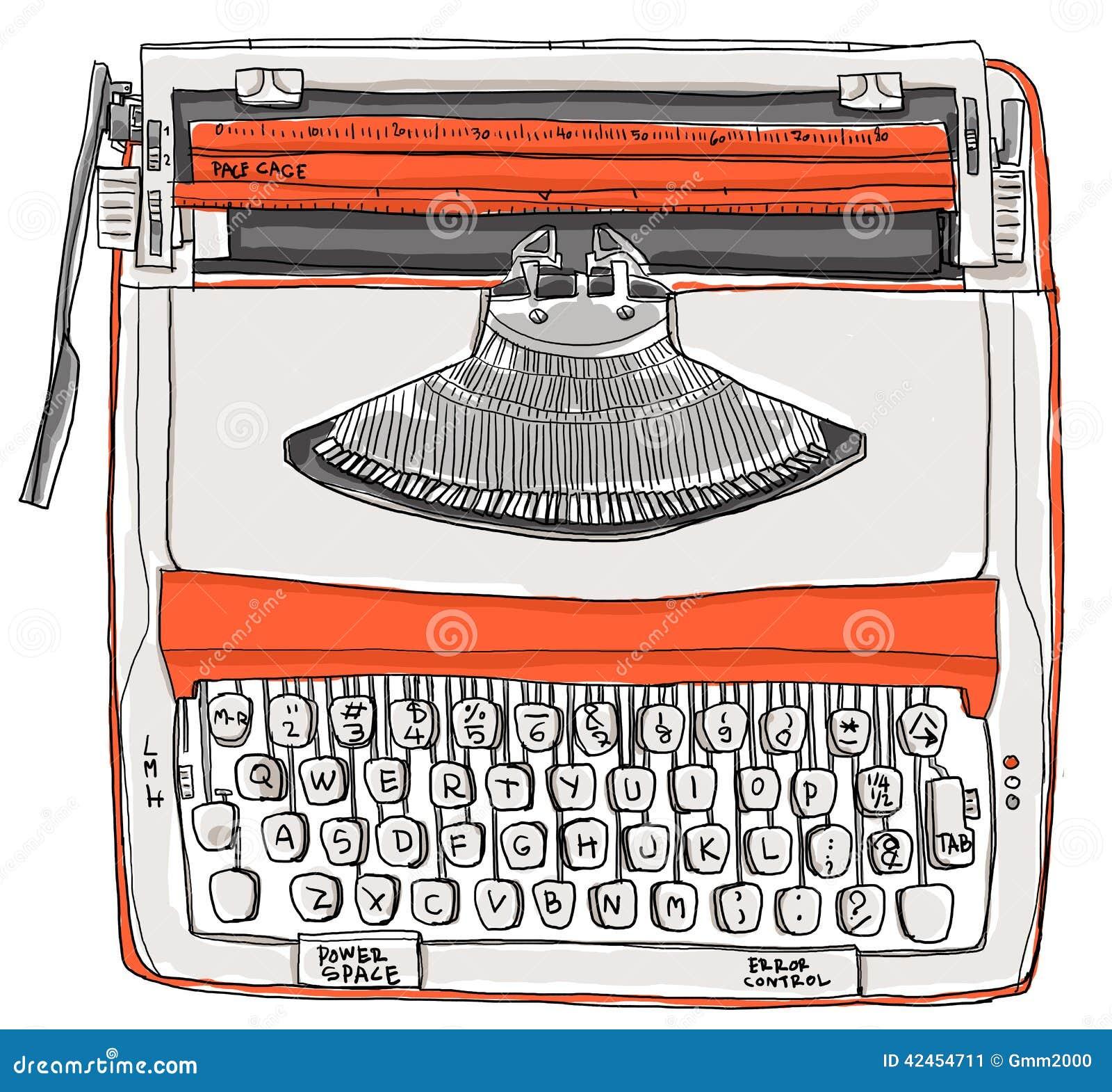 Ton-Sahneorange der Schreibmaschine zwei