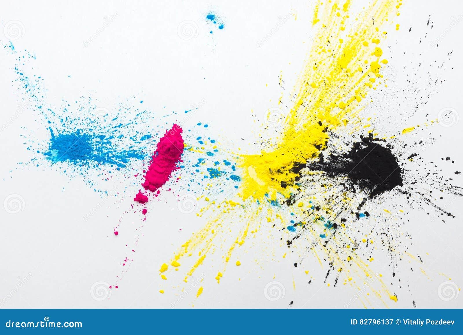 Tonalizador da cor de CMYK para o amarelo magenta ciano da impressora