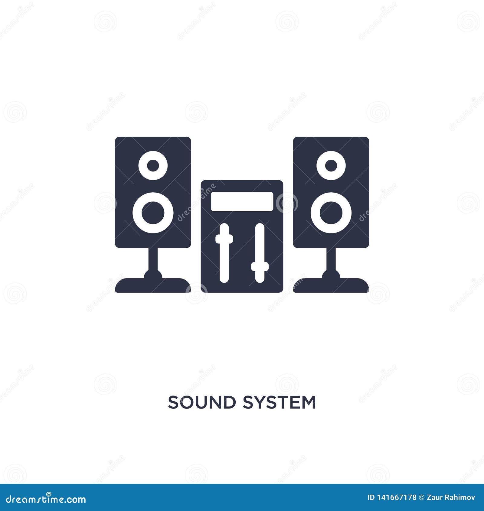 Tonanlageikone auf weißem Hintergrund Einfache Elementillustration vom Musikkonzept