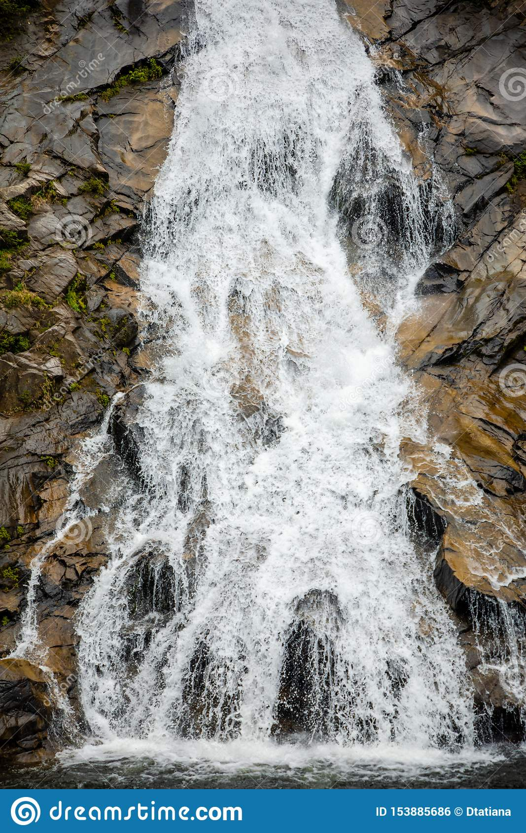 Tonanri瀑布风景,南部海南省,中国的本质