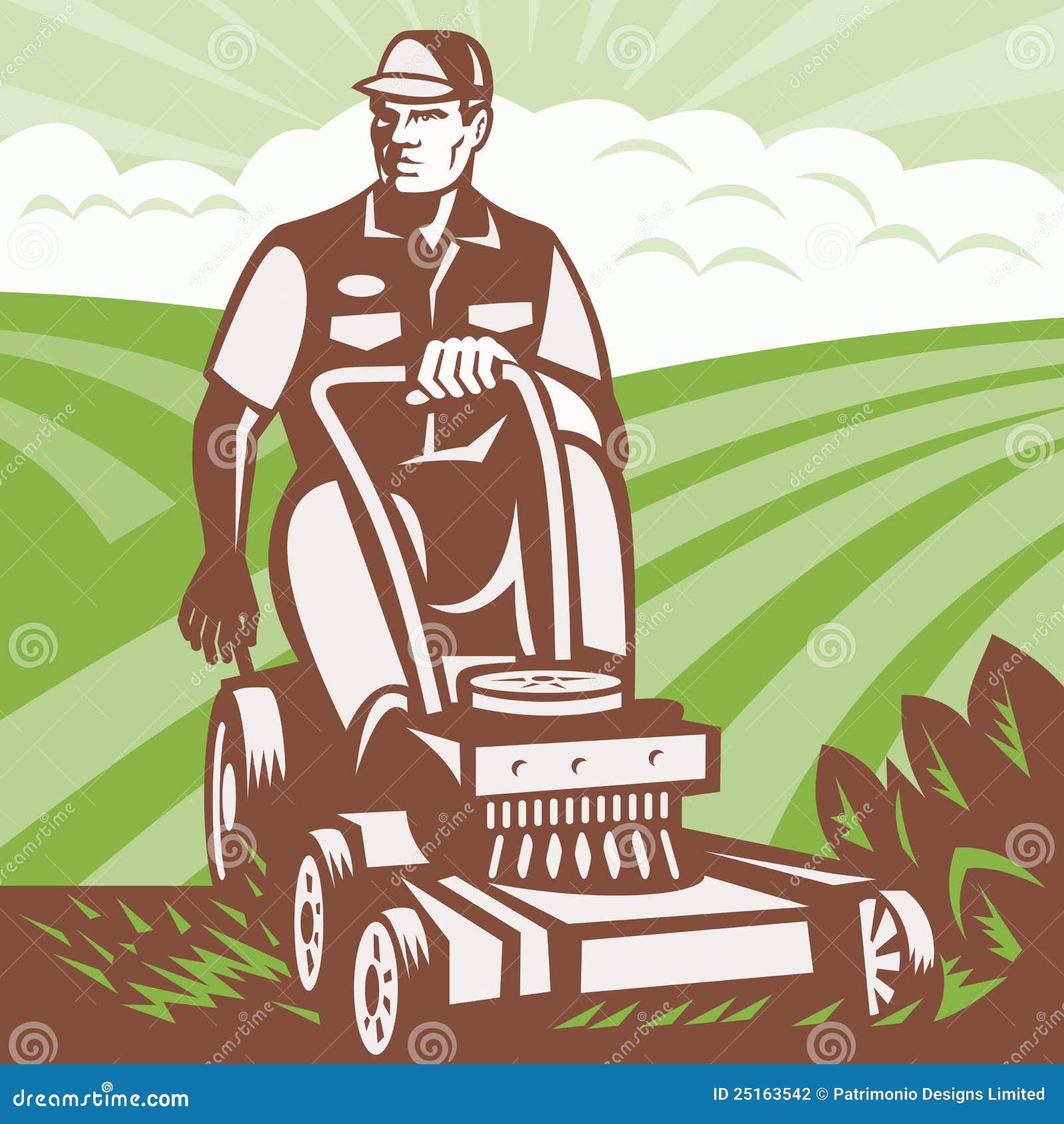 tondeuse gazon d 39 quitation de paysagiste de jardinier. Black Bedroom Furniture Sets. Home Design Ideas