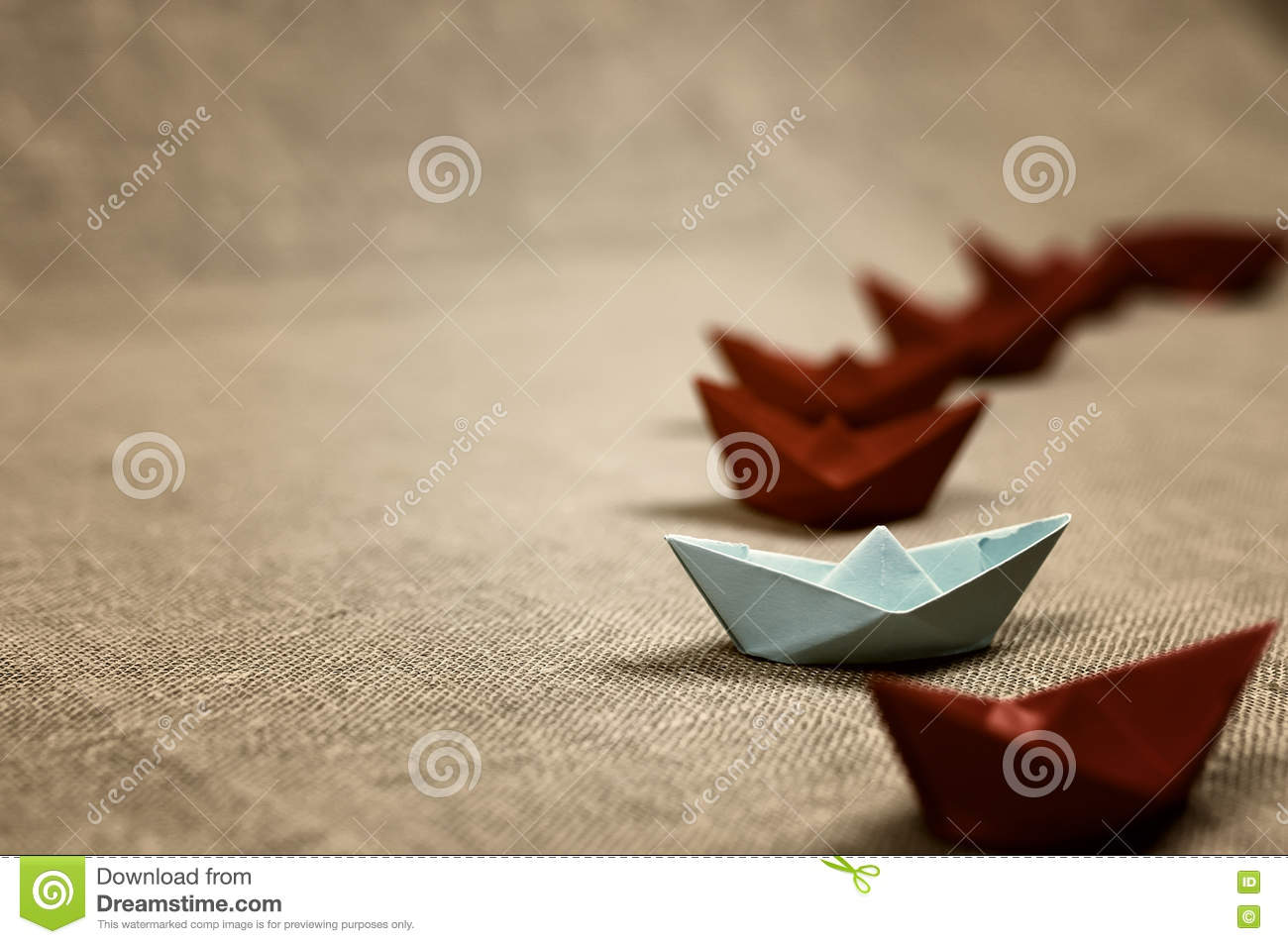 Toned Colored Paper Boats Glass Stock Photo Image Of Child