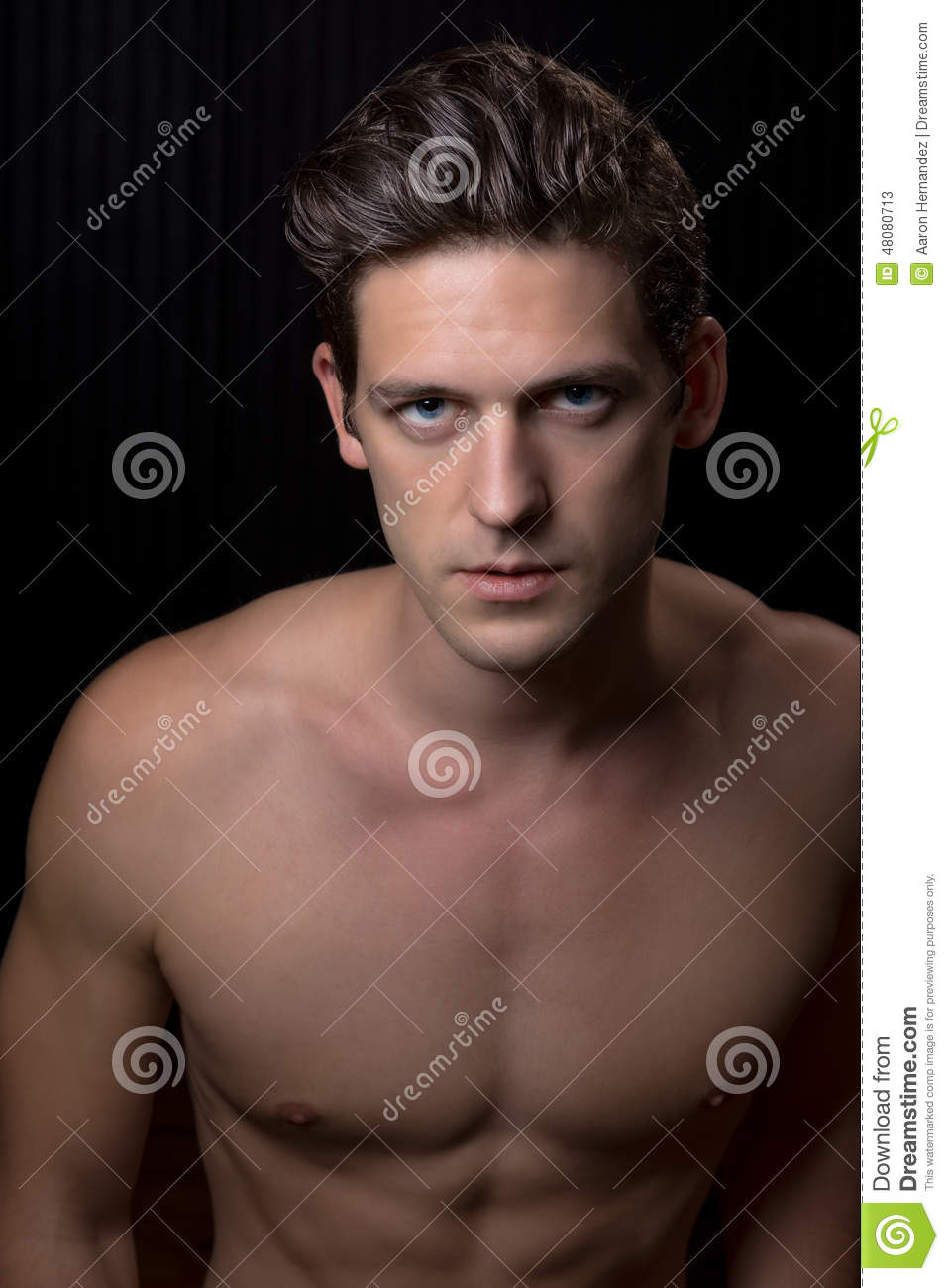 Toned Fit Shirtless Young Man Stock Image Image Of Handsome