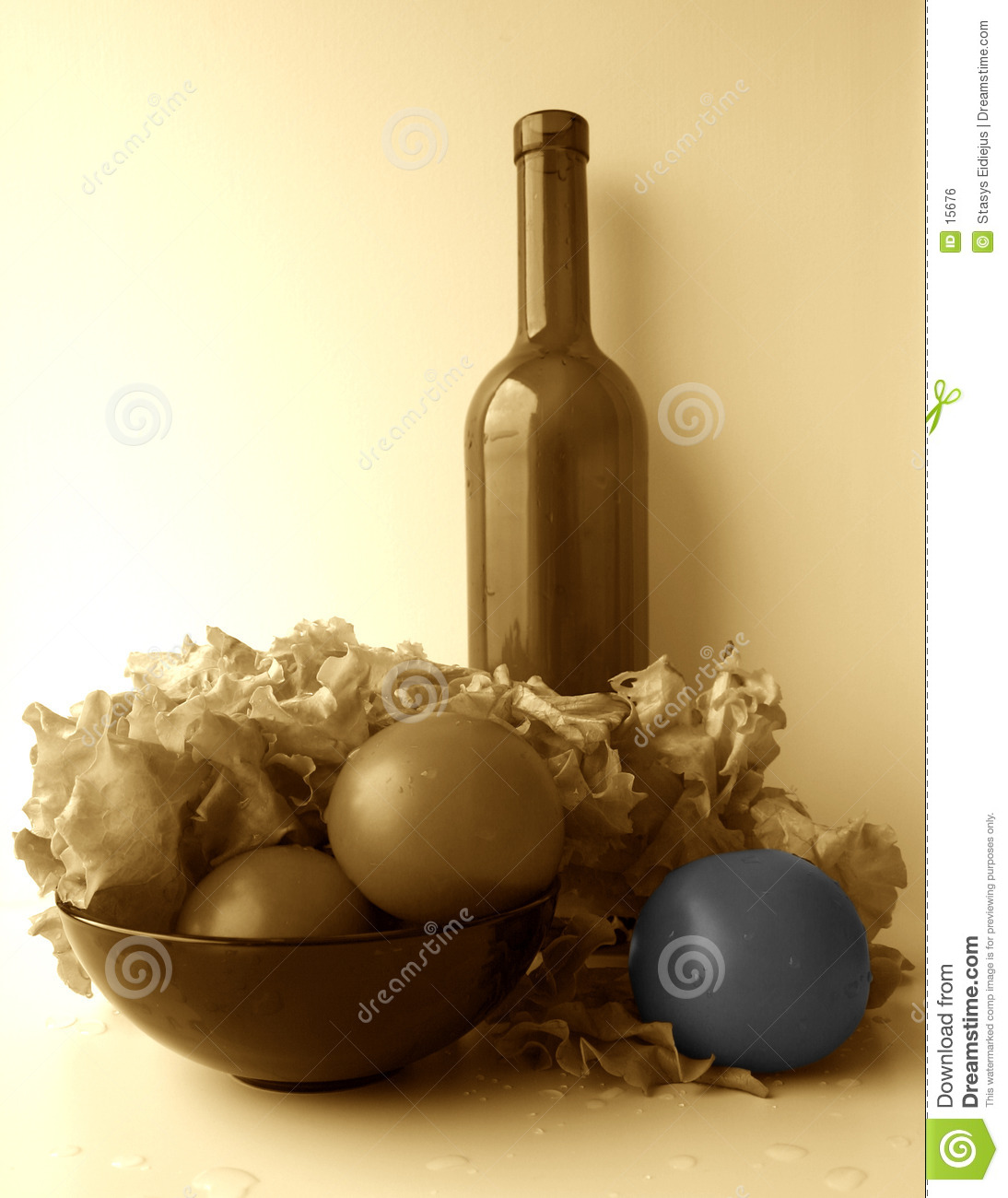 Toned still-life, partially coloured II