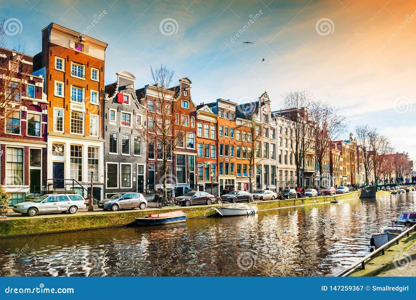 Toneelkanaal in Amsterdam, Nederland