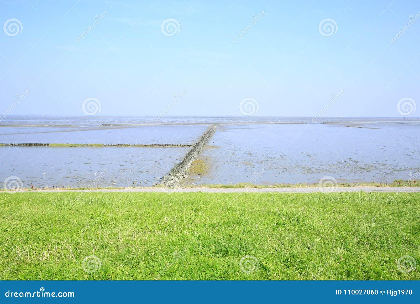 Toneelwadden Overzees Nationaal Park in Nedersaksen, Noordzee, Duitsland