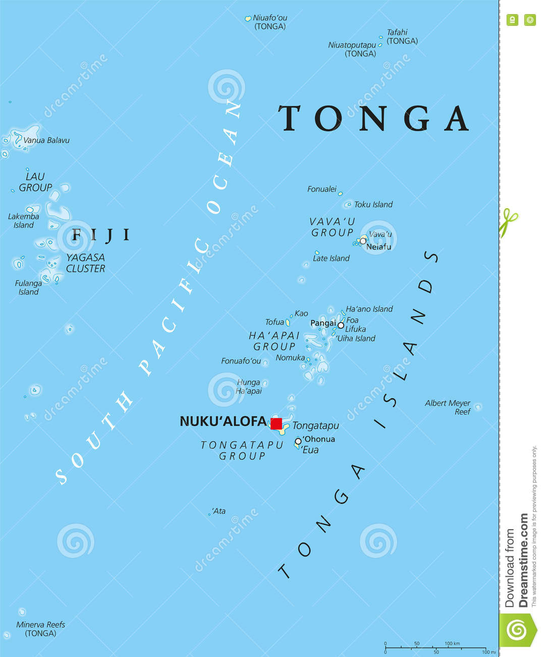 78 Tonga Physical Map Australia And The Pacific Maps Physical