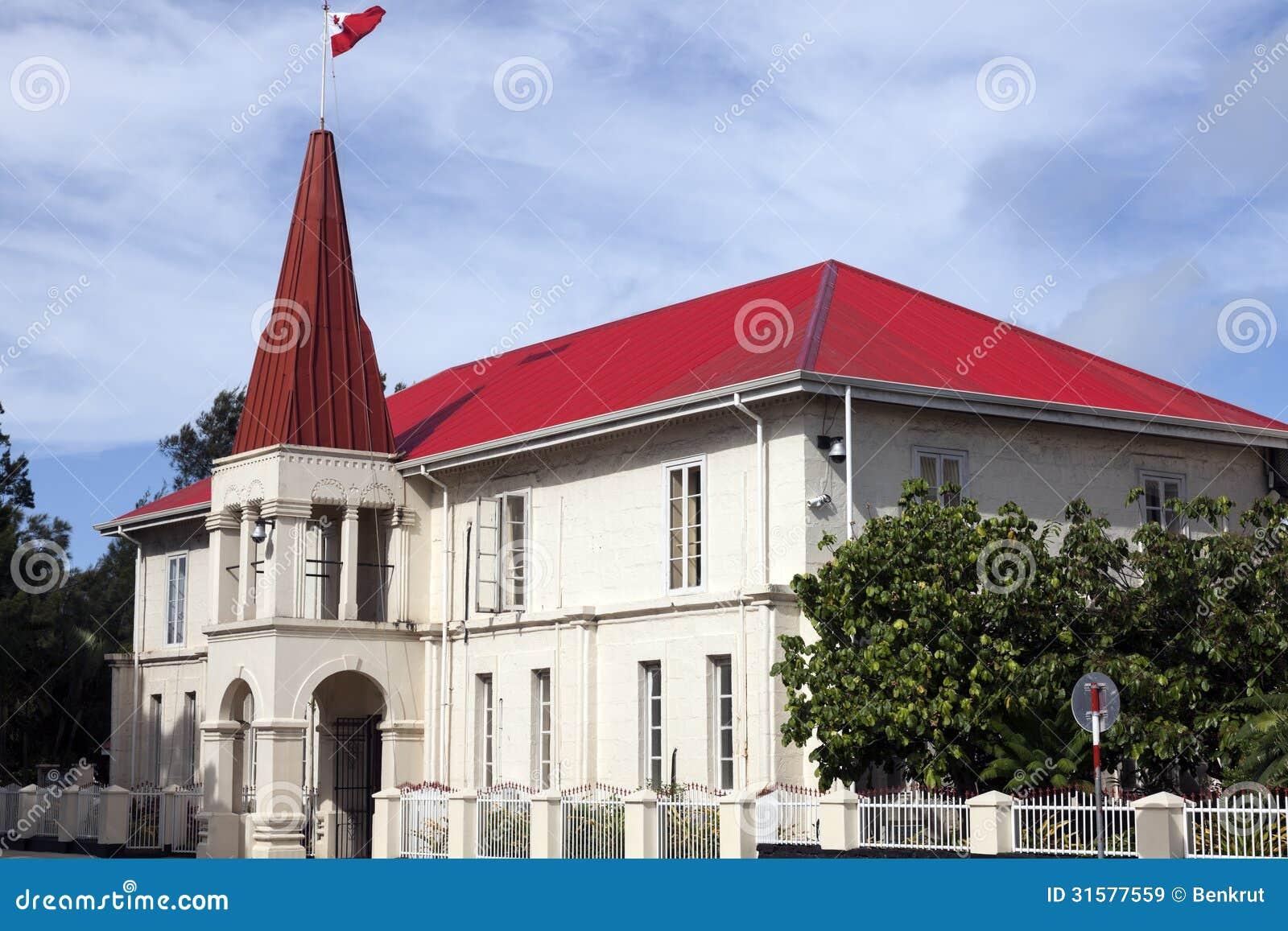 Tongan Parliament Building In Nuku'alofa Royalty Free Stock Images ...