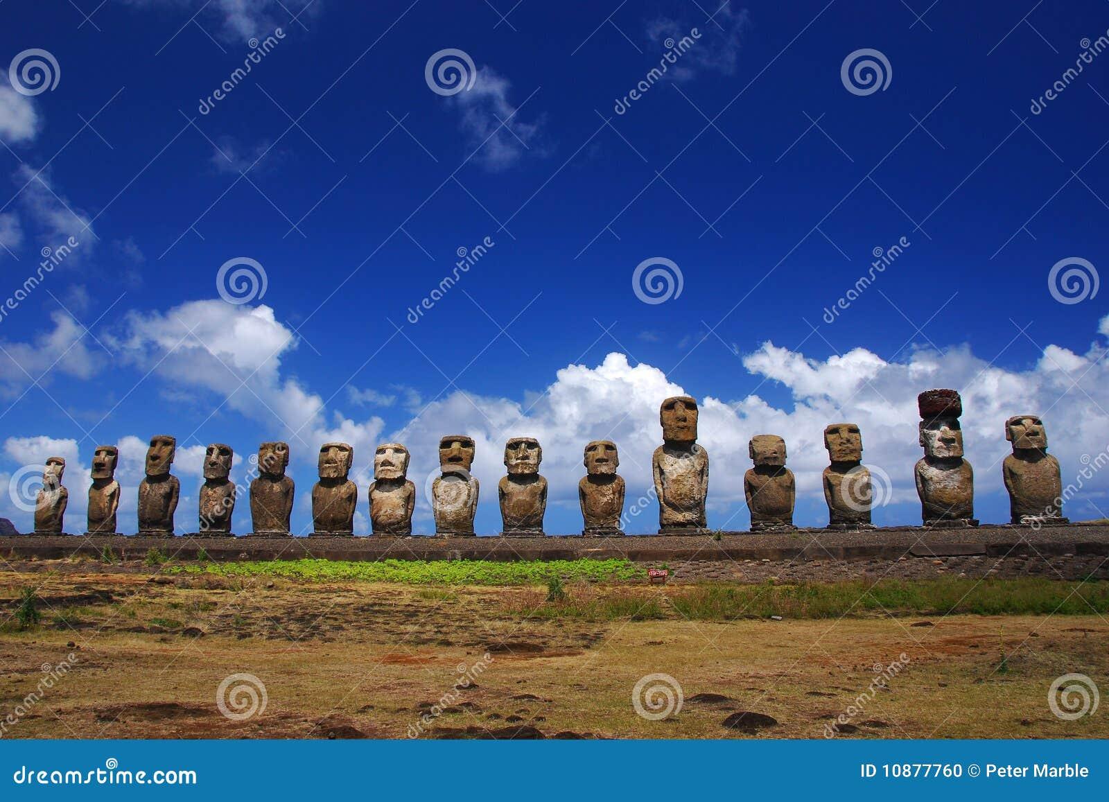 Tongariki moai острова пасхи 15 ahu