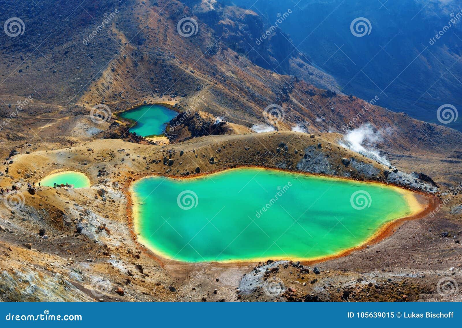 Tongariro alpina korsa Nya Zeeland