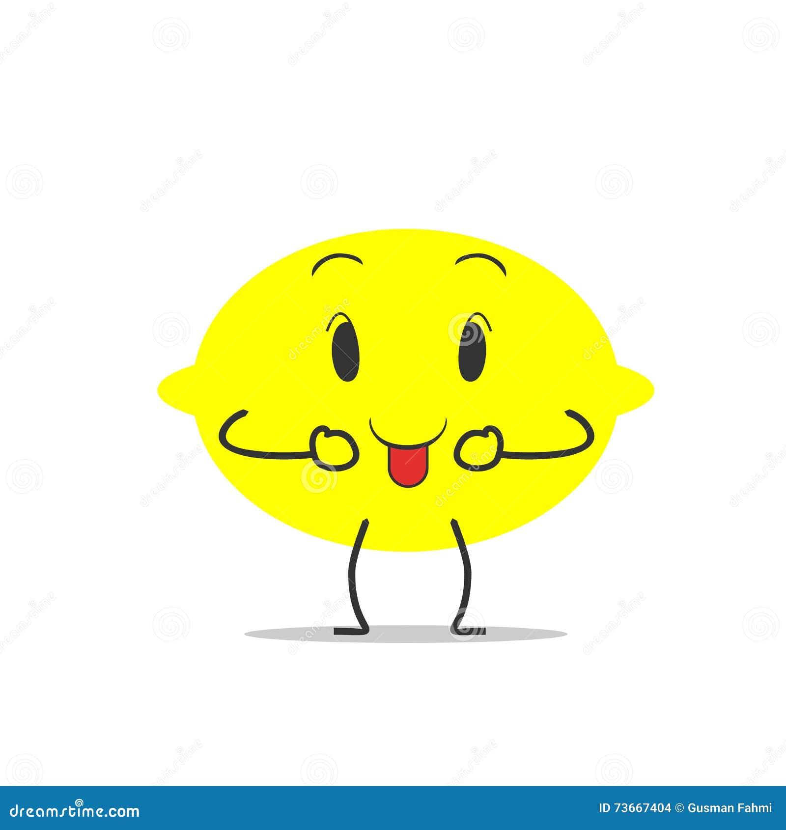 tongue lemon simple clean cartoon illustration stock vector tongue lemon simple clean cartoon illustration