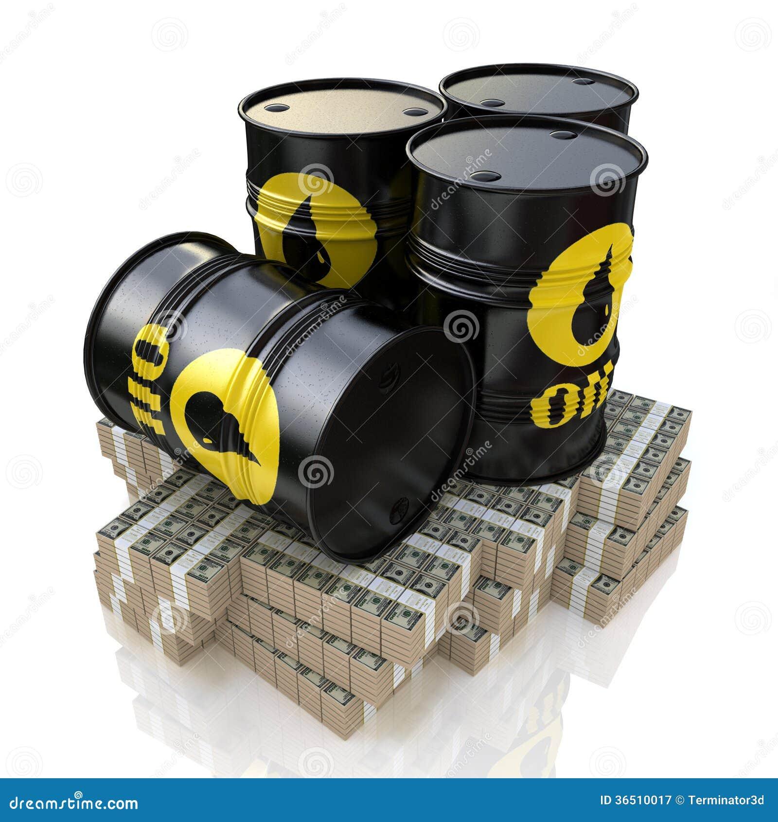 Tonneau à huile et argent