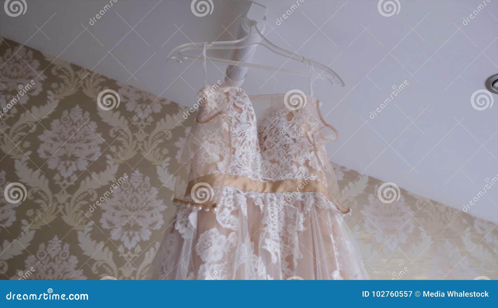 Tono En Colores Pastel Del Vestido De Marfil Del Cordón Para