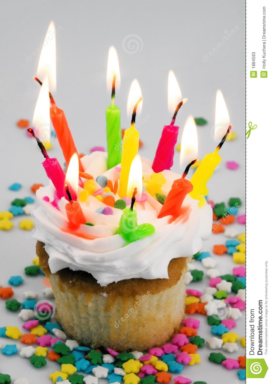 Too Many Candles Cupcake Stock Image Image Of Birthday