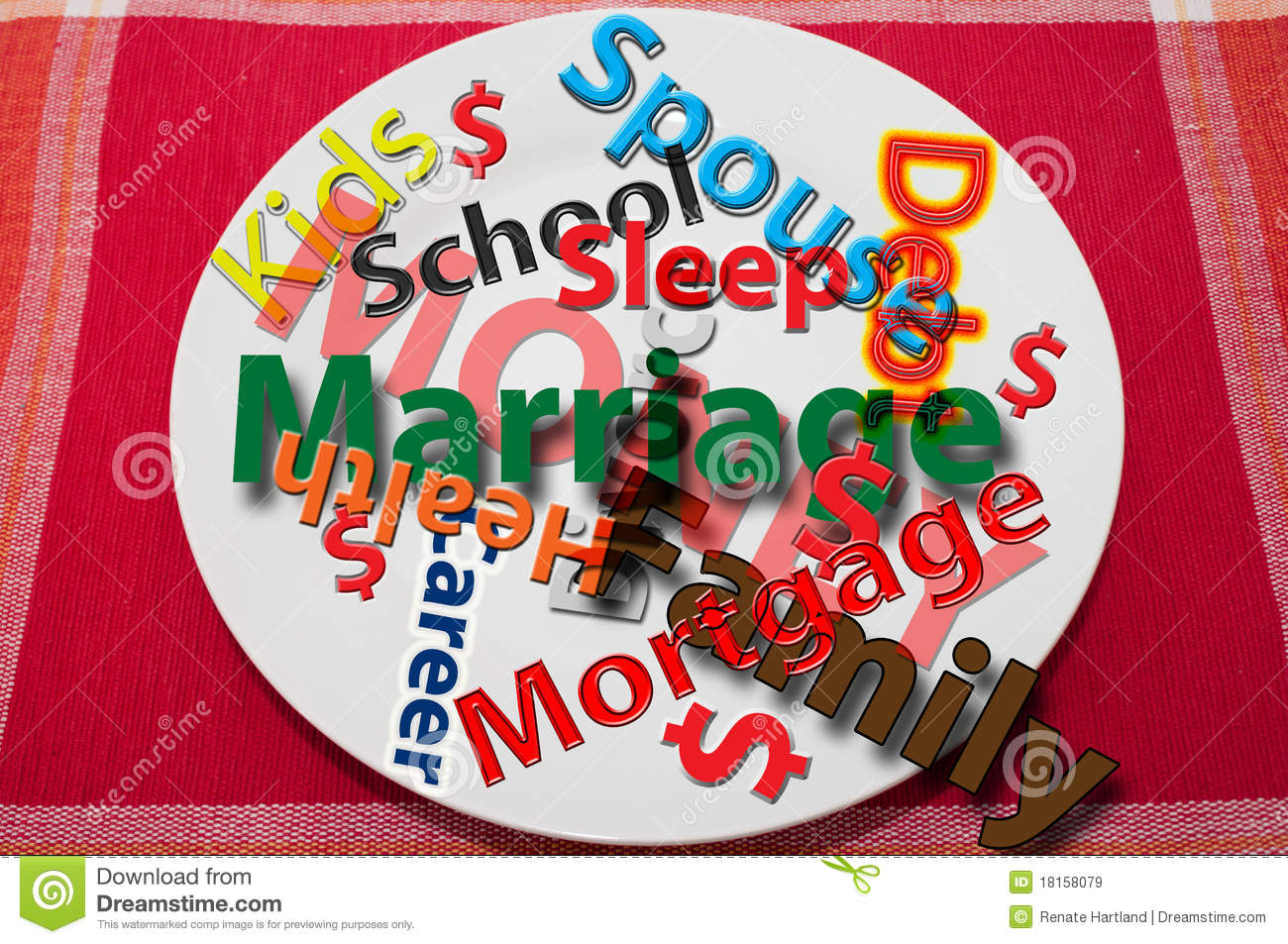 Too Much On My Plate Stock Image Image Of Marriage Plate