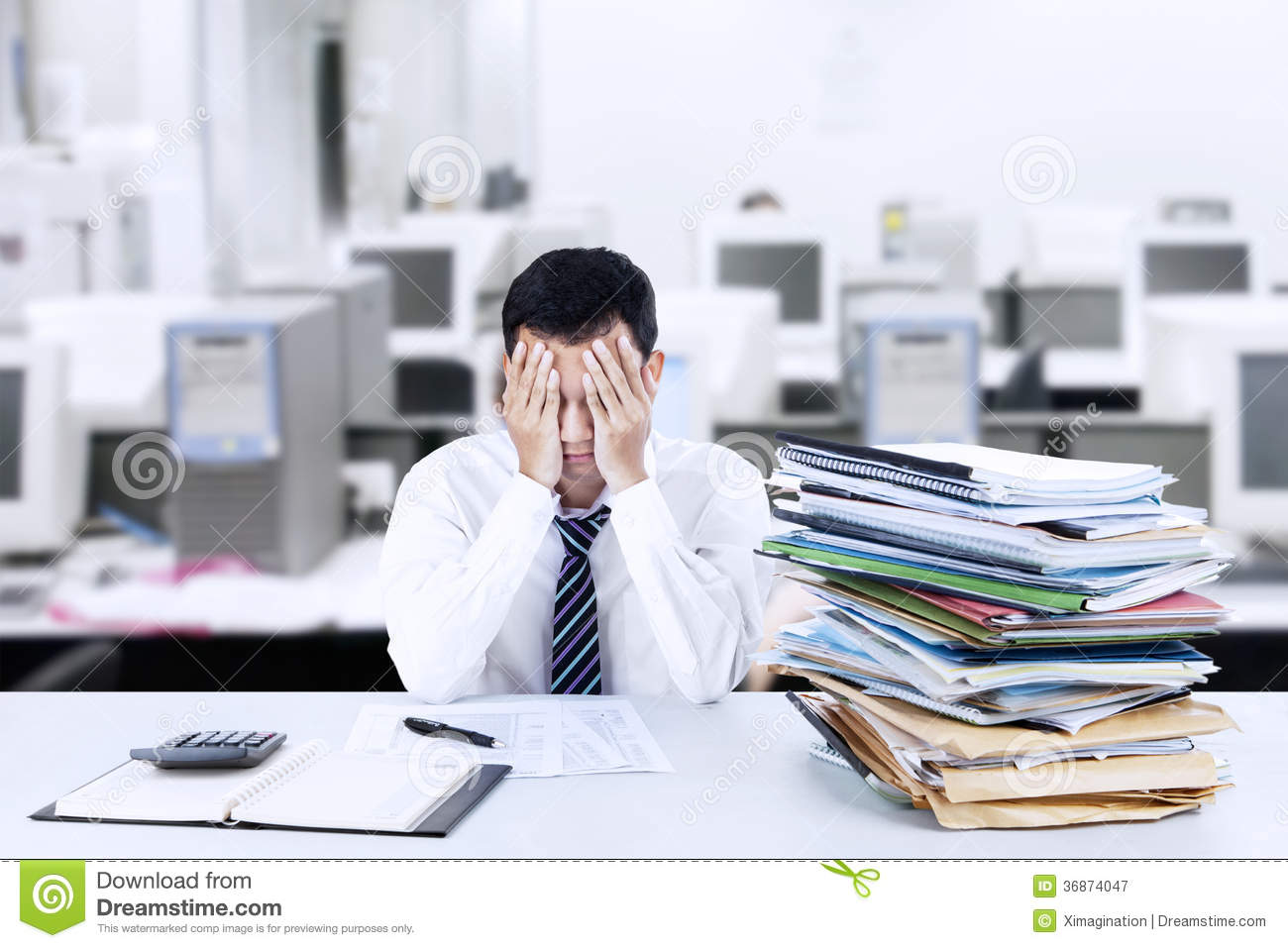 too much work royalty stock photography image  too much work