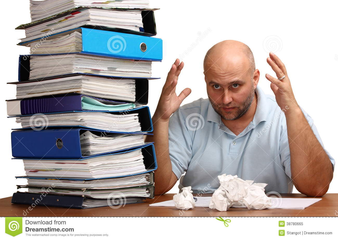 too much work stock photo image  too much work