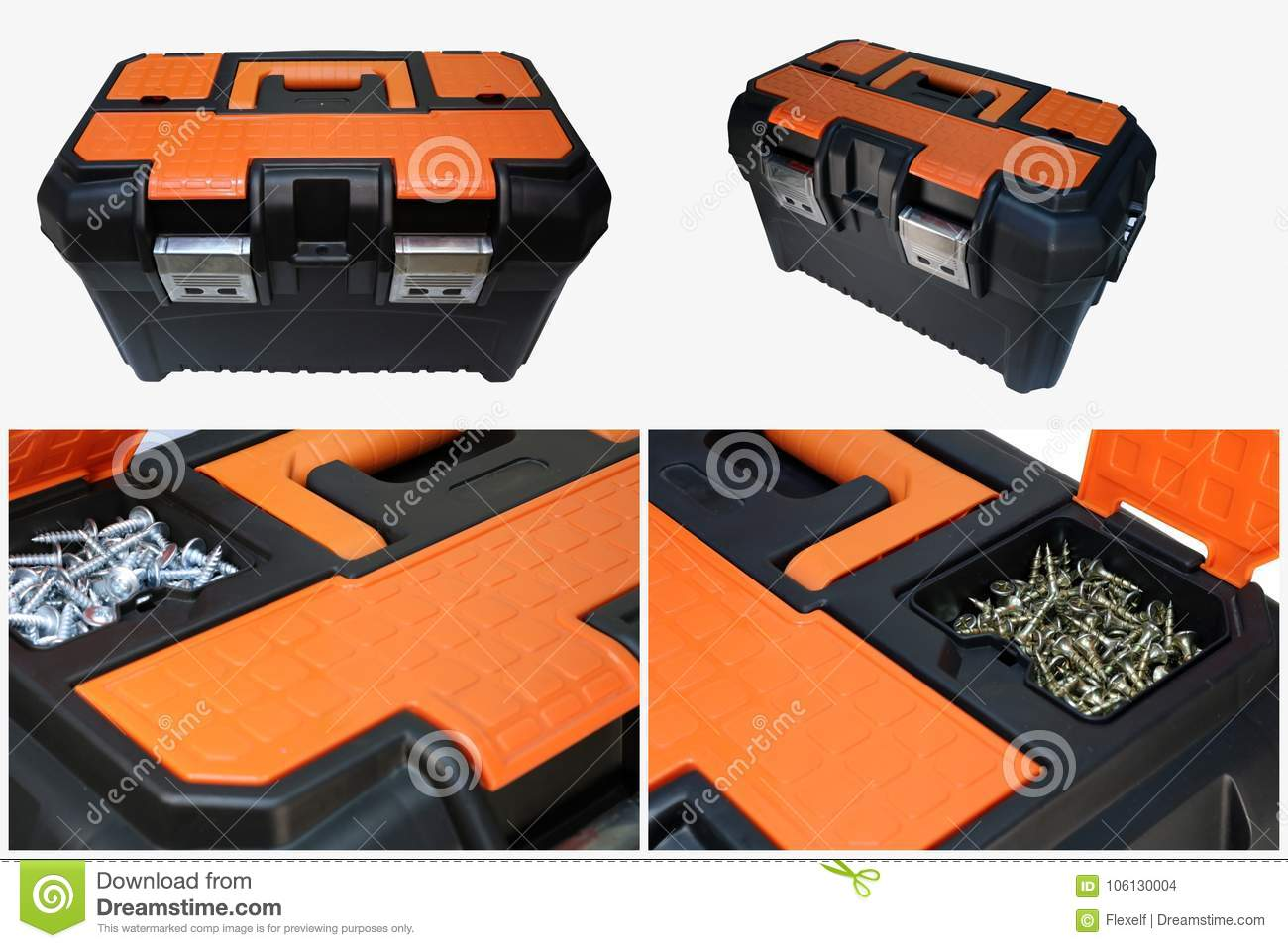 Tool box isolated  stock photo  Image of chest, handle