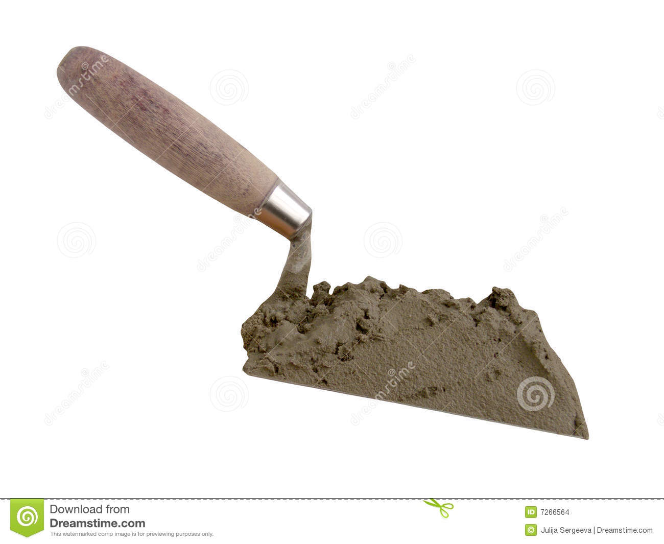 The Tool Of The Builder Of The Mason A Shovel Stock Photo