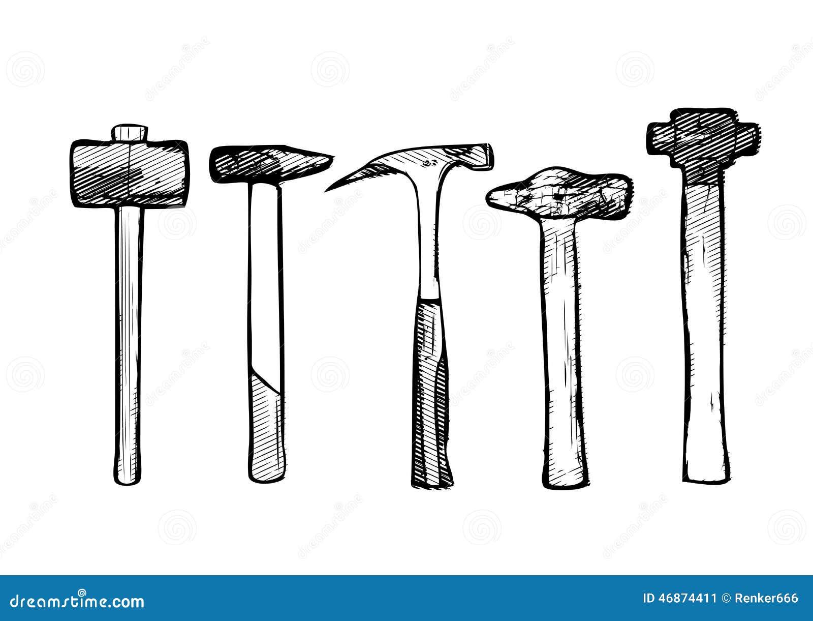 Vector Illustration Hammer: Tool Hammer Vector Illustration Stock Vector