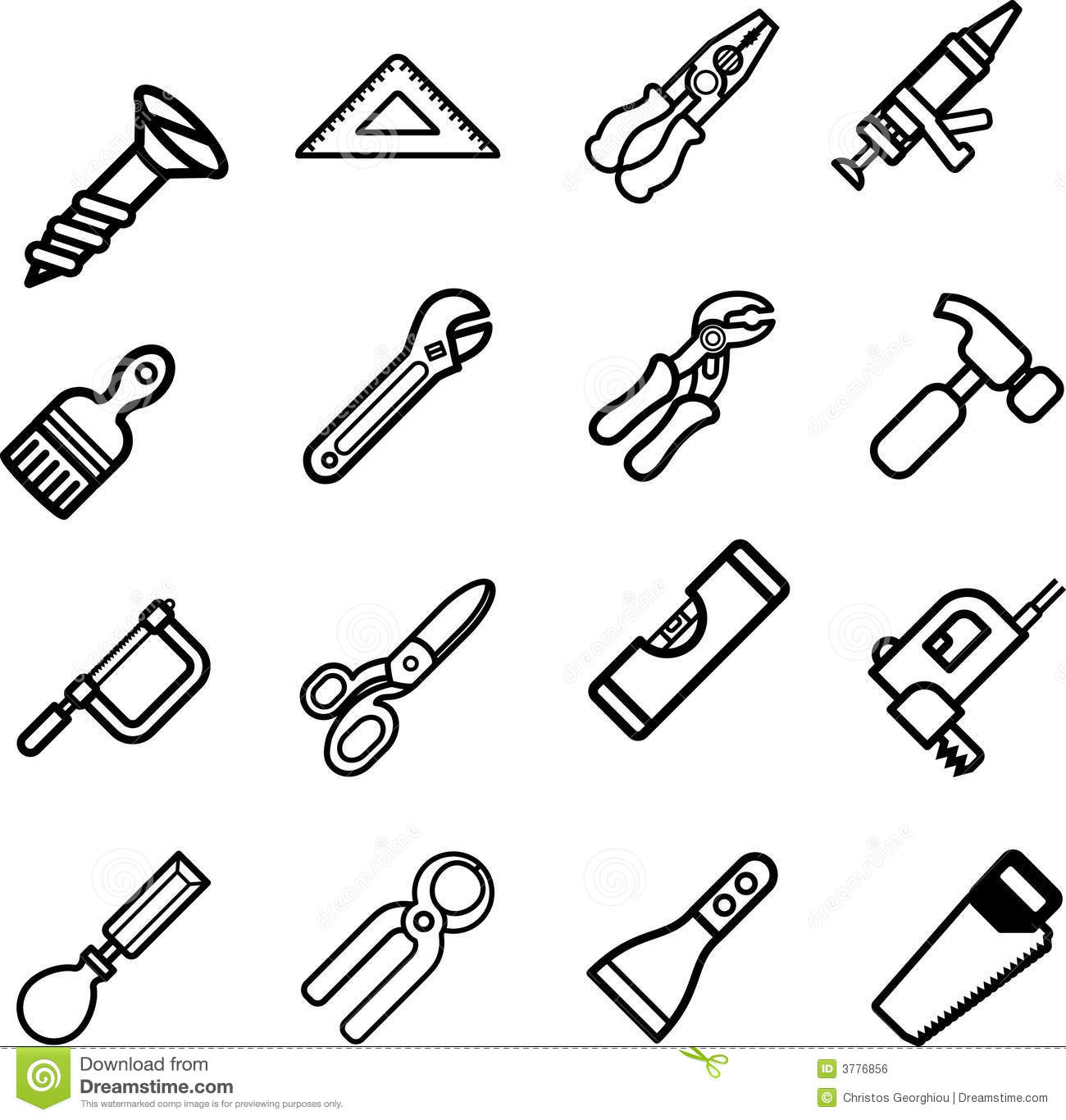Tool icon series set