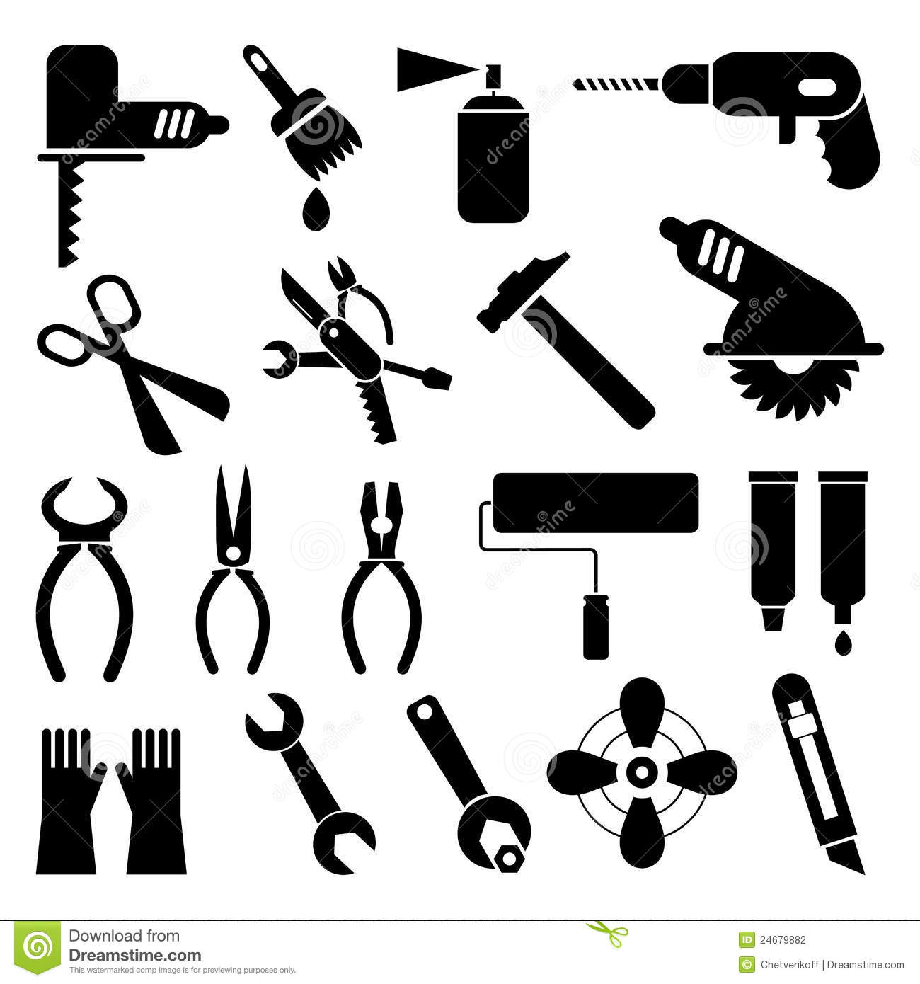 Tool Icons Stock Photography Image 24679882
