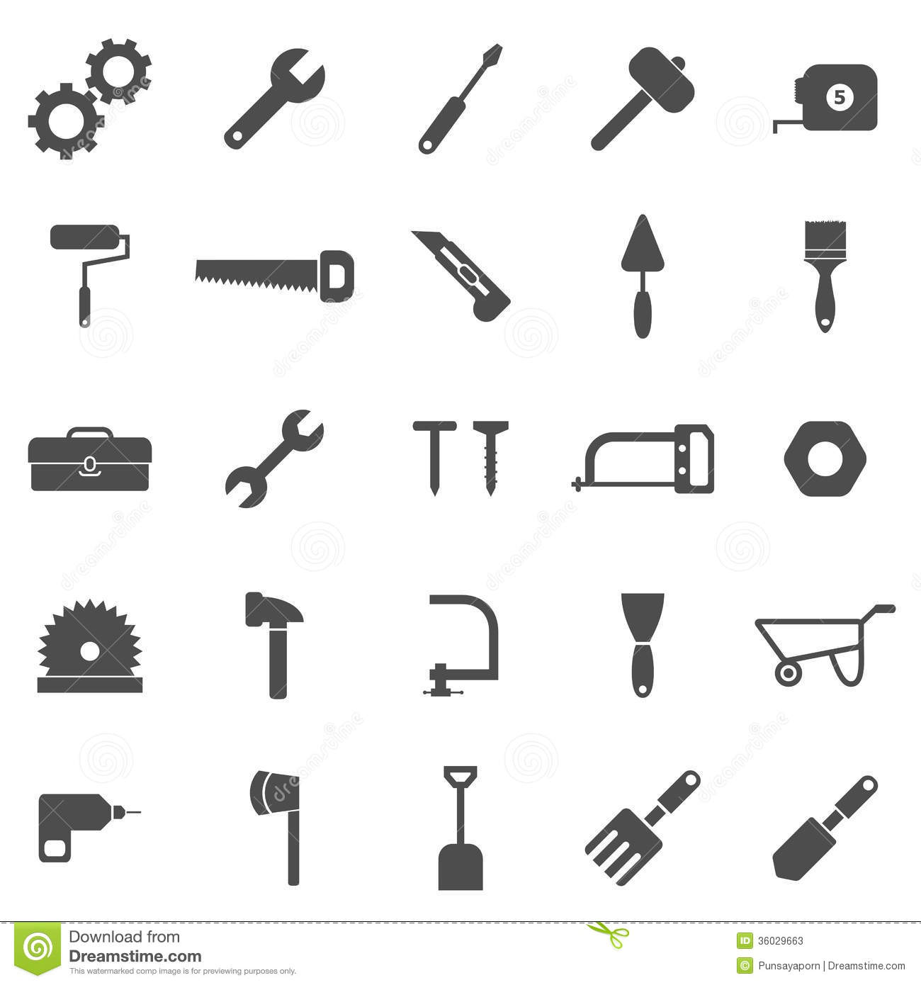tool icons on white background stock vector illustration of pliers