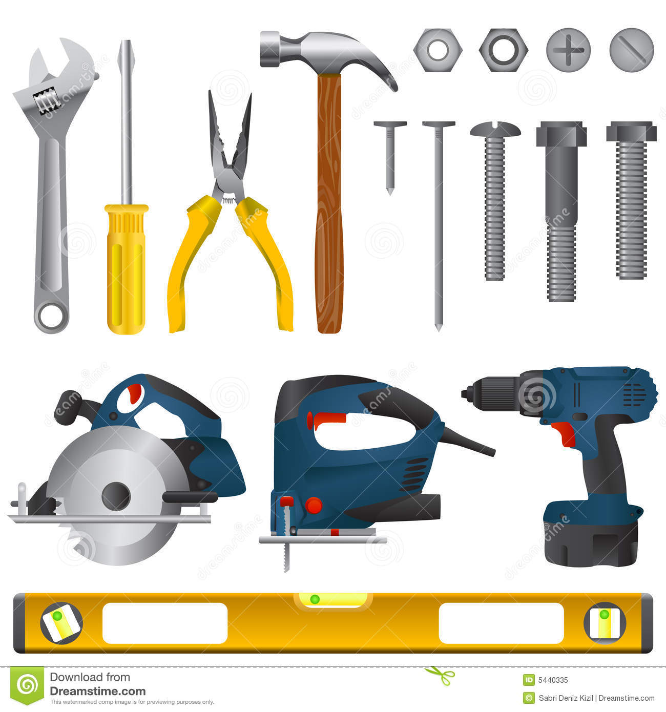 Tool Set Vector Royalty Free Stock Photo - Image: 5440335
