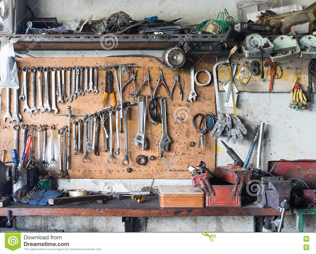 hanging tools on wall tool shelf against a wall stock photo image of nobody 4145