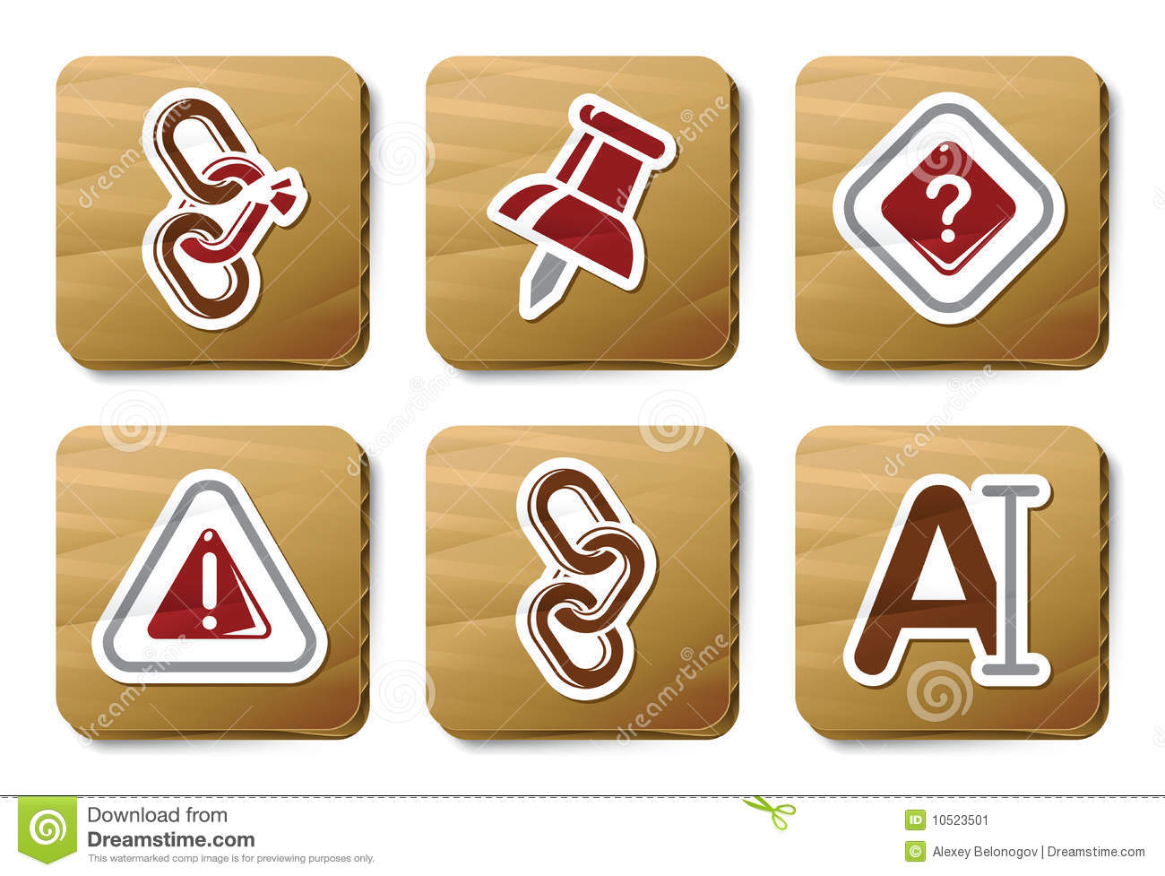 Toolbar and Interface icons   Cardboard series