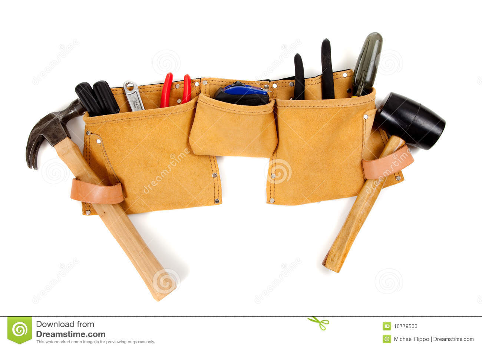 Toolbelt met hulpmiddelen