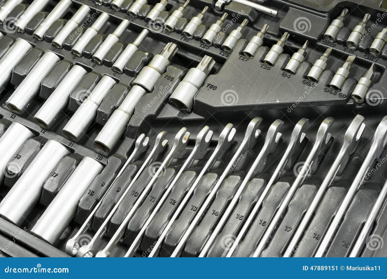 Toolbox av en mekaniker