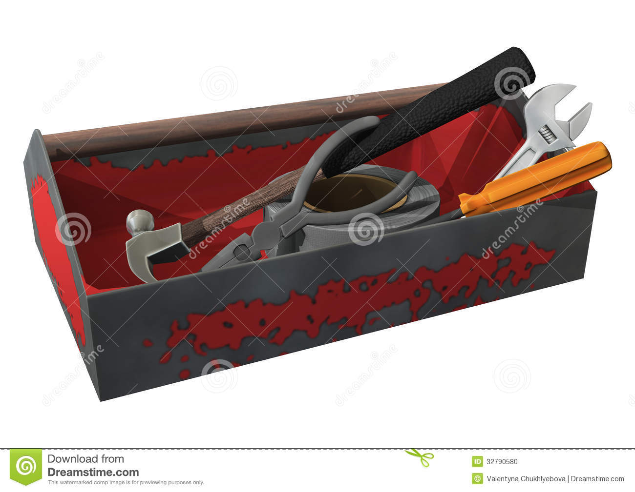 Toolbox stock photo image 32790580 Online rendering tool