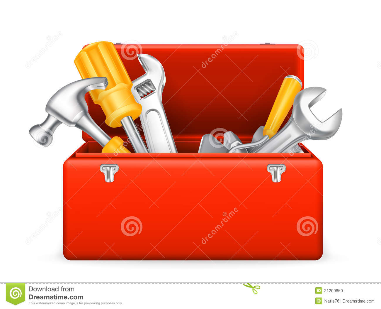 Toolbox icon stock vector. Illustration of equipment   20