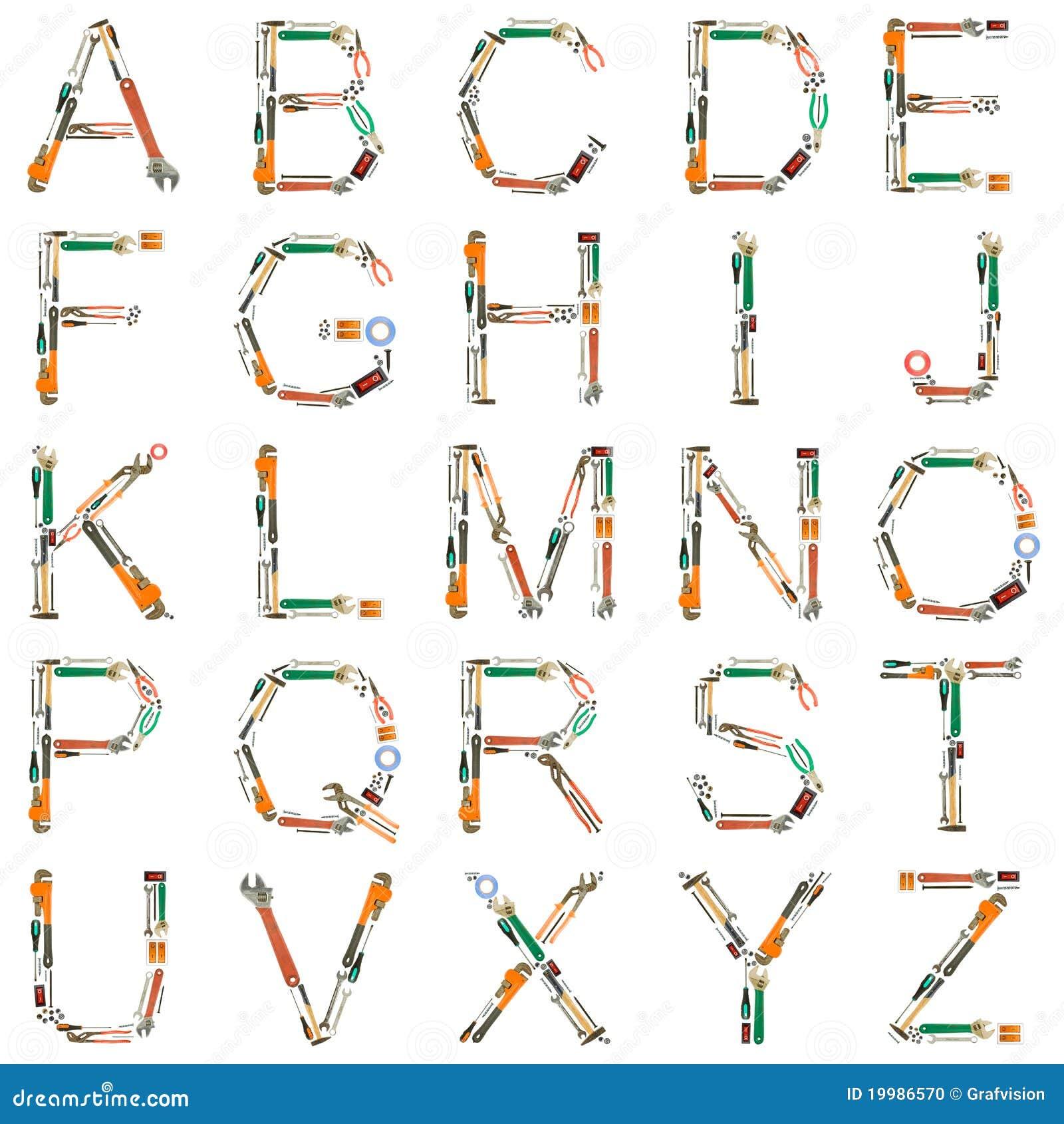 tools alphabet stock photo image of screwdriver tapeline 19986570