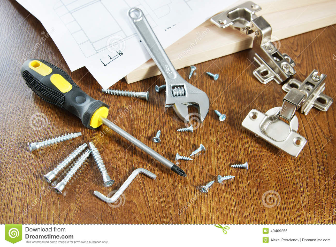 Man Furniture Assembly Instructions And Laid The Floor
