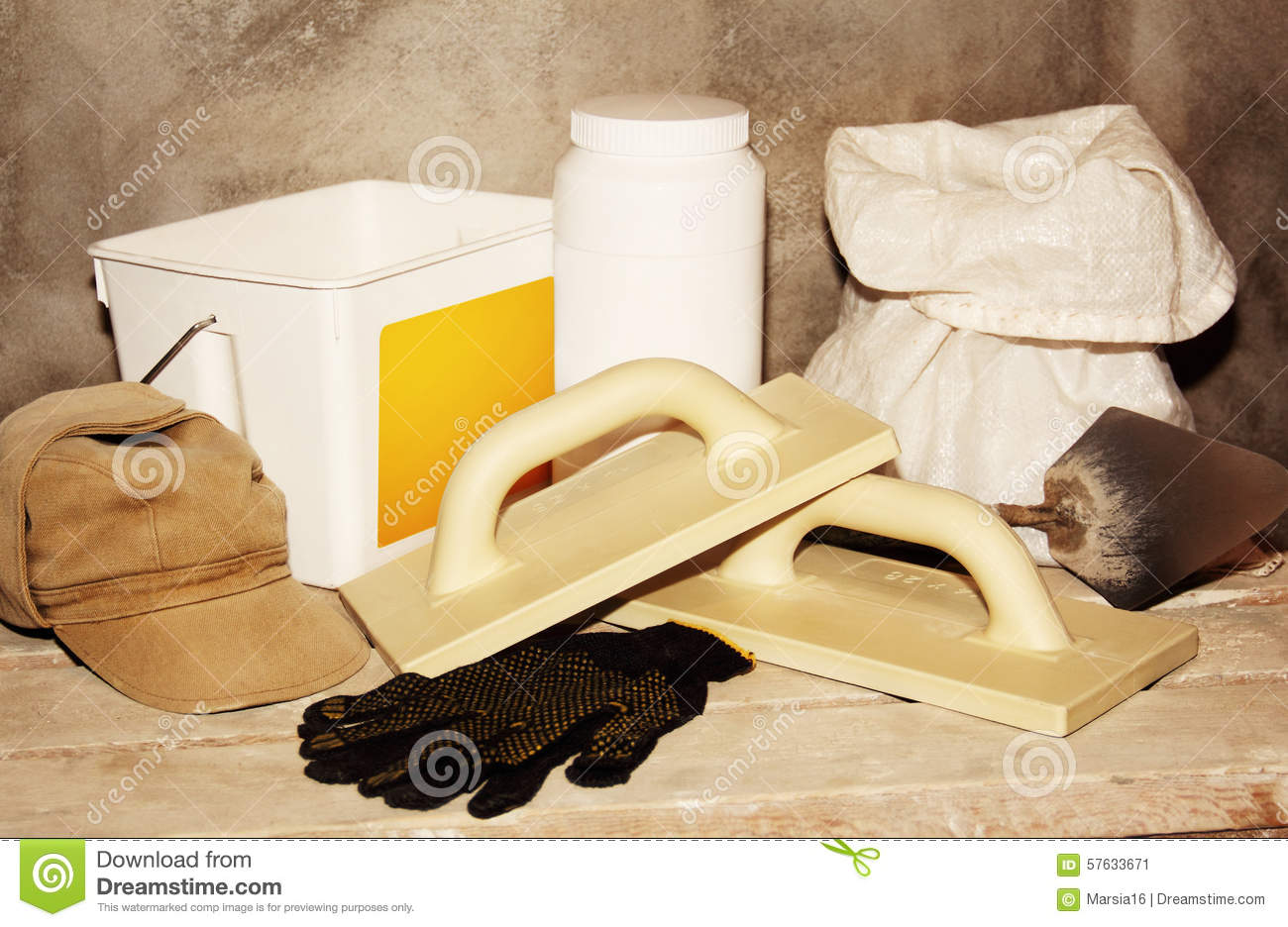 Tools and building materials for repairs