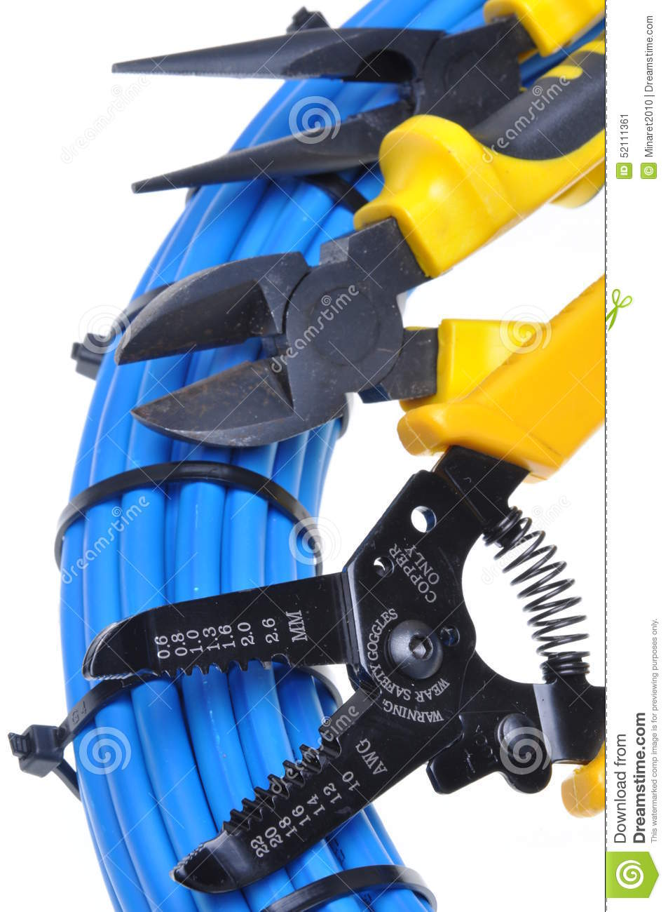 Tools And Cable For Electrical Installation
