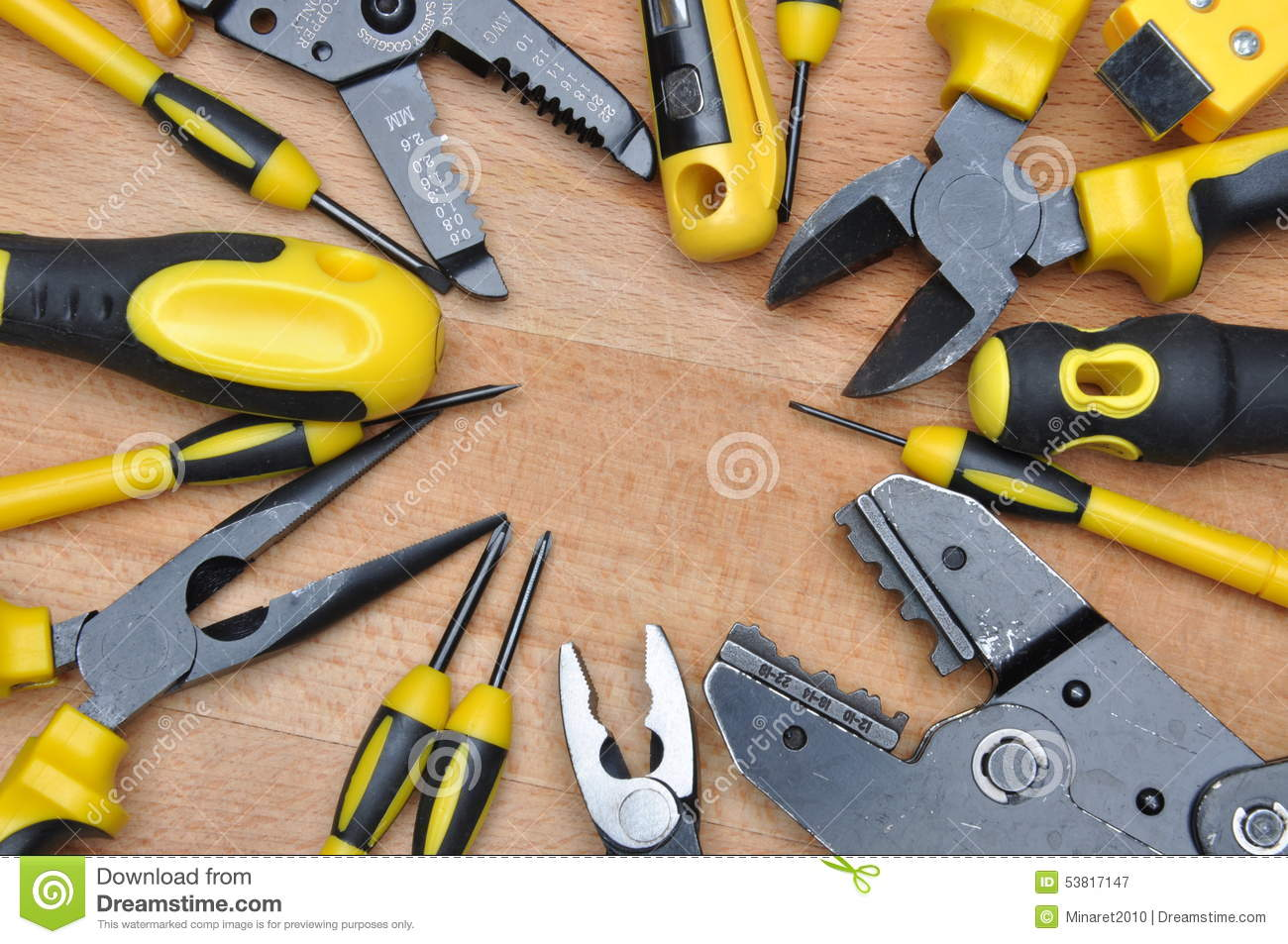 Tools For Electrical Installation Stock Image