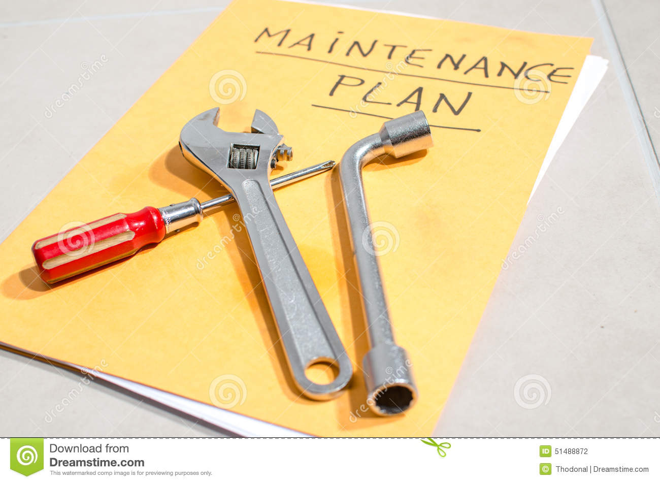Set of tools and maintenance for fixed royalty free stock for Planning tools
